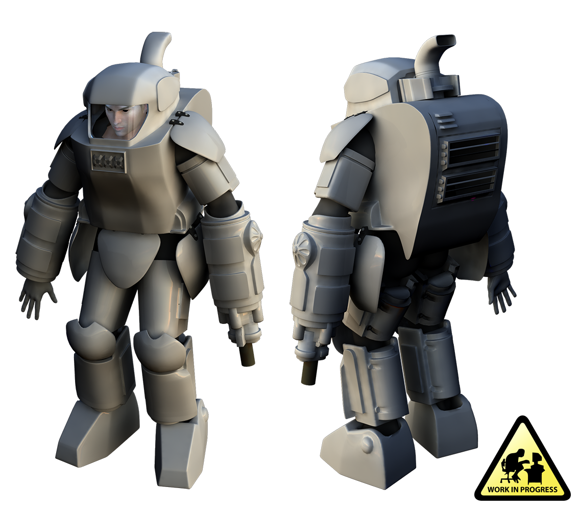 Modeling the Maschinen Krieger Armored Fighting Suit Mk1 in 3D